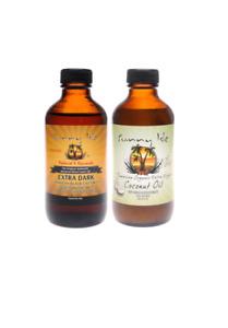 Jamaican Black Castor Oil Extra Dark + Coconut Oil for Skin and Hair Loss Kit