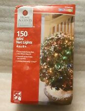 Christmas Lights 150 Multi Color Net Lights 4 ft. x 6 ft. Outdoors