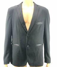 American Rag Men/'s Two Button JC Solid Blazer Jacket Medium M Charcoal Gray $90