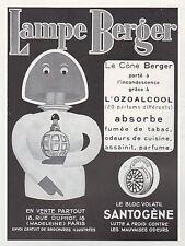 Publicité Lampe Berger  photo vintage print ad  1936 - 3h