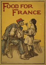 Food for France. Vintage French WW1 Propaganda Poster
