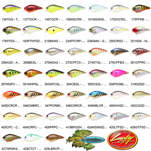 Lucky Craft Crankbait Square Bill SILENT (LC 1-5) Any 45 Fishing Lure Colors
