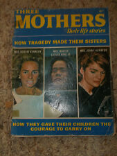 THREE MOTHERS:their life stories-Jackie & Ethel Kennedy,Coretta King,MLK 1968