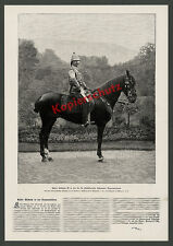 Kaiser Wilhelm II. Tropical Uniform Horse Kassel Wilhelm Height nobility Orient travel 1898