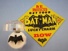 1966 VINTAGE **BATMAN LUCKY CHARM BLACK LOGO BAT RING** With Case & Sign ~L@@K~