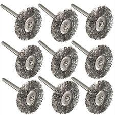 10pcs Dremel utensile rotante filo d'acciaio SPAZZOLE GAMBO 3mm PER LA PULIZIA DI RIFINITURA