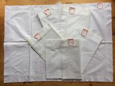 Vintage Irish Egyptian Cotton Pillowcases Pair Huge 1930s Quality Linen Unused