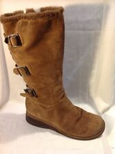 Aldo Brown Mid Calf Suede Boots Size 41