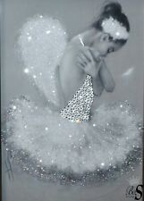 """Sparkle Glitter canvas picture """"Crystal Ballerina"""" any size!"""
