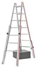 Treppenstehleiter 2x7 Spr. AHmax 3,30m mit 4 verstellbaren Holmen Hymer 412314