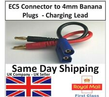 EC5 Male Connector to 4mm Banana Plug Battery Charging Charger Cable Lead RC UK