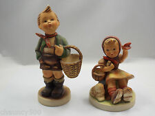 Goebel Hummel Figurines #51/0 Village Boy & #65/1 Farewell TMK-2