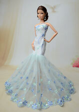 Royalty Mermaid Dress Party Dress/Wedding Clothes/Gown For Barbie Doll F50U