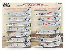 AOA decals 1/48 BATTLE SCOOTERS 1 A-4C & A-4E Skyhawks in the Vietnam War