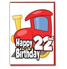 Juguete Tren 22nd Tarjeta Cumpleaños - Hombre Hijo Marido Amigo Brother