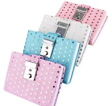 NEW 4 SEQUIN DIARIES WITH A BUILT IN LOCK AND KEY  PURPLE, AQUA, PINK AND WHITE