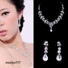 *Parure Bijoux Mariée *collier boucle d'oreille bijoux  mariée mariage soirée.