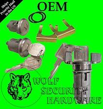 GM OEM Chrome Ignition Key Switch Cylinder & Door Lock Pair Set W/ GM Keys