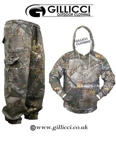 UNISEX JUNGLE PRINT CAMOUFLAGE HUNTING/FISHING HOODIE SUIT WITH OR WITHOUT ZIP