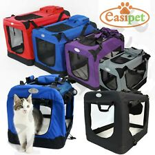 More details for fabric dog crate cat puppy pet carrier travel portable kennel cage house easipet