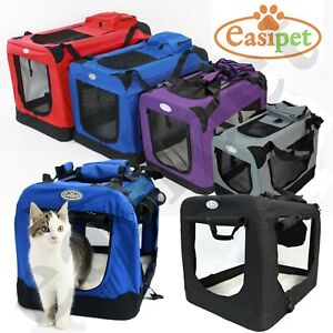 Fabric Dog Crate Cat Puppy Pet Carrier Travel Portable Kennel Cage House Easipet
