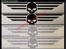 2 x 290mm x 51mm HARLEY DAVIDSON Willie G style SKULL decal sticker colours