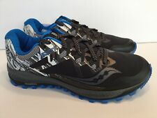 Saucony Peregrine 8 ICE+ Mens Winter Running Shoes Black Blue Size 11