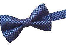 Men's 100% SETA BOW tie-Blu & Navy Check