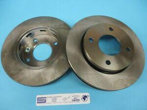 Pair Front Brake Discs For Mitsubishi COLT Smart Forfour 4605A068 Sivar
