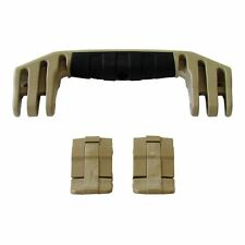 Pelican Tan 1450 / 1500 replacement latches (2) & handle (1) kits.
