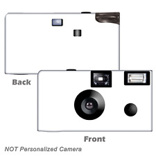 5 Pack White Single Use Disposable Cameras, birthday party, baby shower F56001