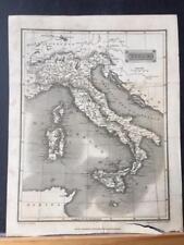 1826 Map: Tegg's Italy