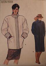V-8803 Vintage Coat Sewing Pattern Vogue Size 8 Cut & Complete Rare