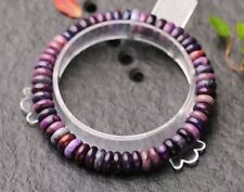 Natural Purple Sugilite South Africa Gems faceted Beads Bracelet AAA 6mm