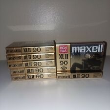 7 Sealed New Maxell XLII 90 Min High Bias Blank Audio Cassette Tapes Lot Unused