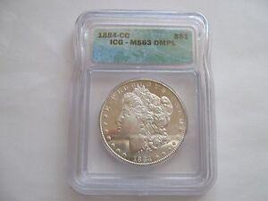 1884-CC , Morgan Dollar , MS 63 , DMPL , ICG Certified
