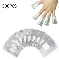 500Pcs Nail Polish Removal Aluminium Foils Soak Off Wraps Cotton Pad Remover