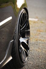 "18"" Miro 111 Black Wheels 18X8.5 +35 / 18x9.5 +40 5x112 Staggered Rims Set (4)"