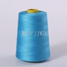 8000 Yards Sky Blue Industrial Overlock Sewing Machine Polyester Thread Sewing