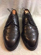 "Vtg Footjoy Crocodile Golf Men Shoe Size 9-9.5 Wide 11.5"" Inches"