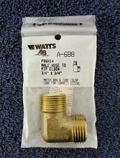 """Brass Pipe Elbow 3/4"""" MGHT X MIP Adapter Hose Fitting Watts A-688 NEW BG8"""