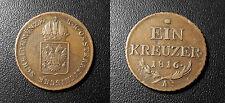 Austria / Autriche - Franz II - Ein Kreuzer 1816A - KM#2113