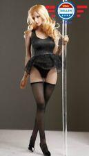 1/6 scale Black Sleeveless Lace Dress Stockings Set for 12'' Female Figure body