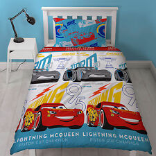 Disney Cars 3 Reversible Single Duvet Cover Bed Set Kids Childs Bedroom