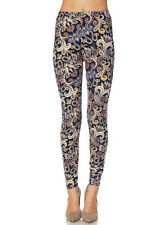 Leggings TC/207 Buttery Soft Always Brushed Black w/Print PLUS SIZE