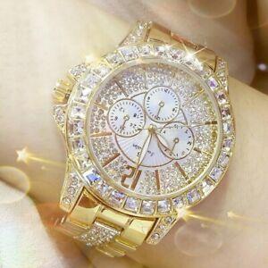 Women Diamond Watch Ladies Luxury Fashion Jewelry Wristwatch Lady Gold Watch