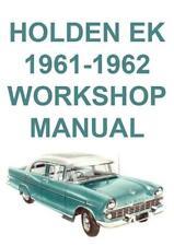 HOLDEN EK 1961-1962 WORKSHOP MANUAL