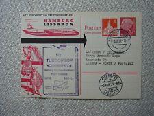 LUFTHANSA Erstflug Hamburg - Lissabon 3.3.59 auf Ganzsache BRD P 32 - 20 Pf