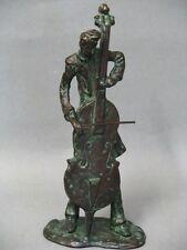 Bronze Jazz Musiker Cello Spieler Figur Figure Figurine um 1950