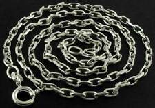 """925 STERLING SILVER 22"""" SOLID DIAMOND CUT DC BELCHER CHAIN LINK PENDANT NECKLACE"""